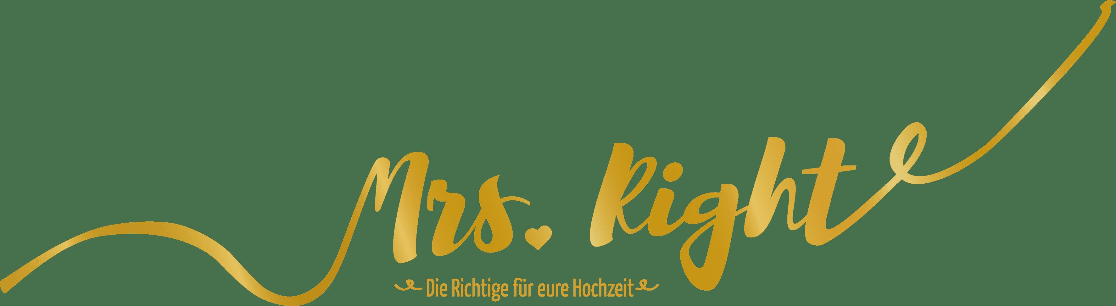 Hochzeitplaner München - Logo Mrs. Right - Heiraten München