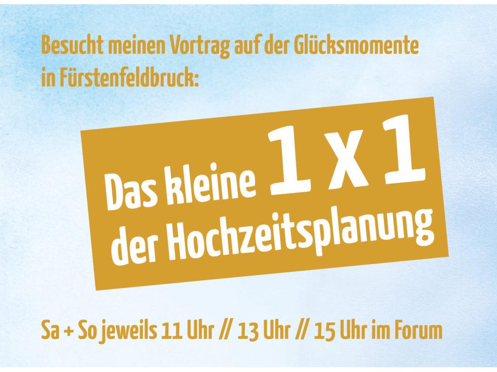 Hochzeitsplanung Hochzeitsplaner München - Mr. Right Chrissie Spiess - Brautpaar Hochzeitsplanung - Heiraten München Vortrag Glücksmomente
