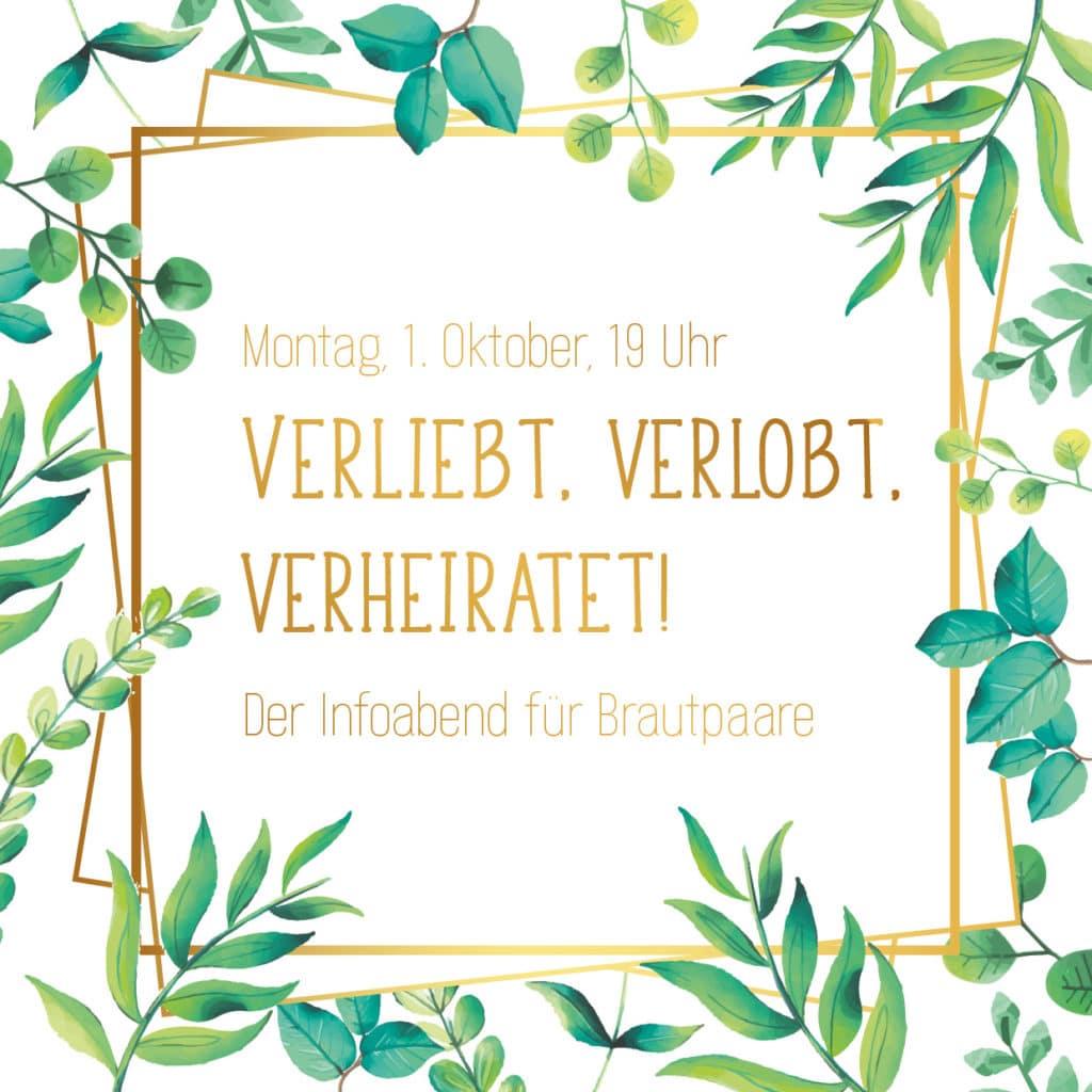 Hochzeit-Blog: Hochzeitsplaner München - Mr. Right Chrissie Spiess - Brautpaar Hochzeitsplanung - Heiraten in München - Infoabend