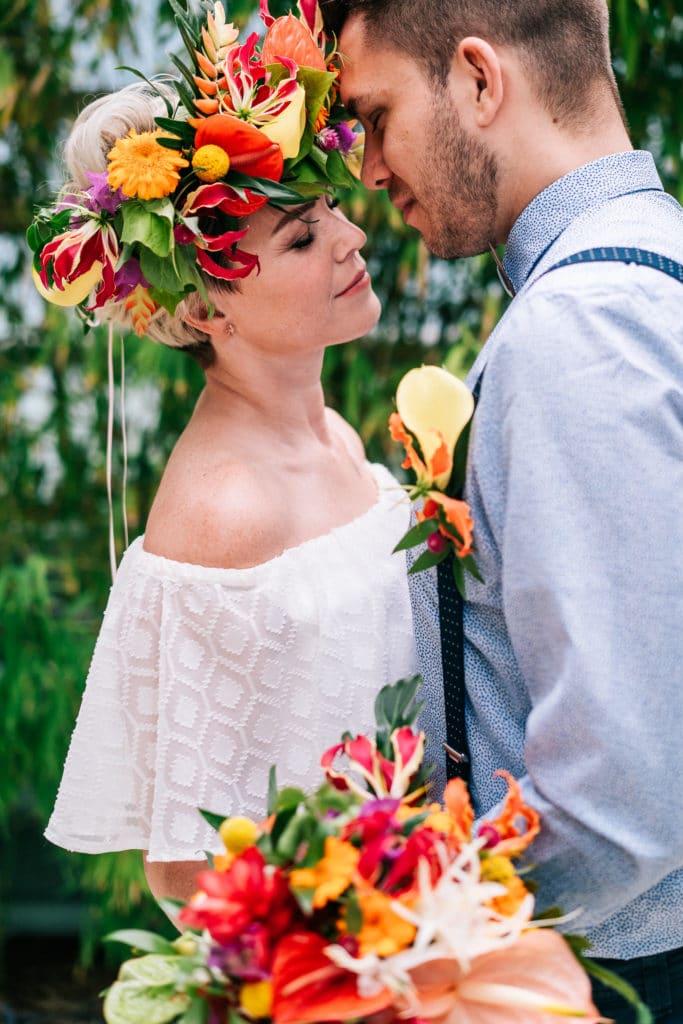 Hochzeit tropisch tropical Wedding München Hochzeitsplanung Brautpaar