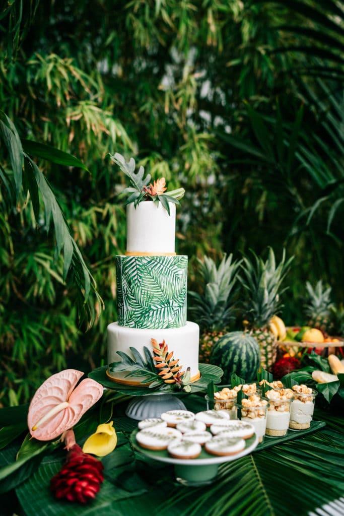 Hochzeitstorte tropisch tropical Wedding München Hochzeitsplanung