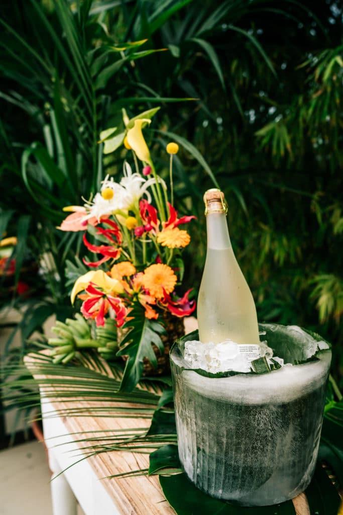 Sektkühler Hochzeittropical Wedding München Hochzeitsplanung