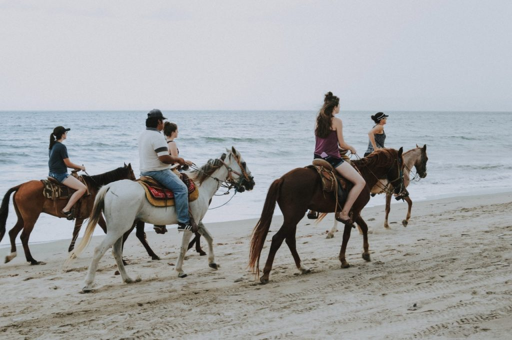 Pferde Ausritt Gruppe Junggesellinnenabschied Bachelorette JGA Hochzeitsplaner München