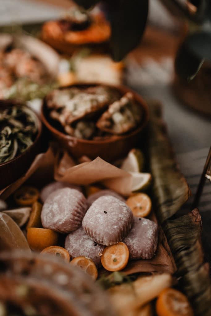 Grazingtable Grazing Board Mochi Asiatisch Buffet Fingerfood Hochzeitsessen Hochzeit